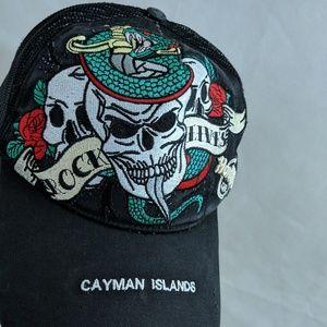 Hard Rock Cafe Hat Cayman Island Rock Lives Skull
